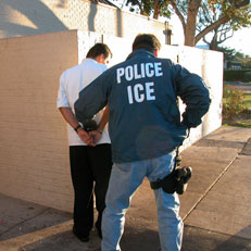 Image of ICE detaining a person